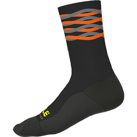 Alé Cycling Speedfondo Winter Calcetines, black-fluo orange